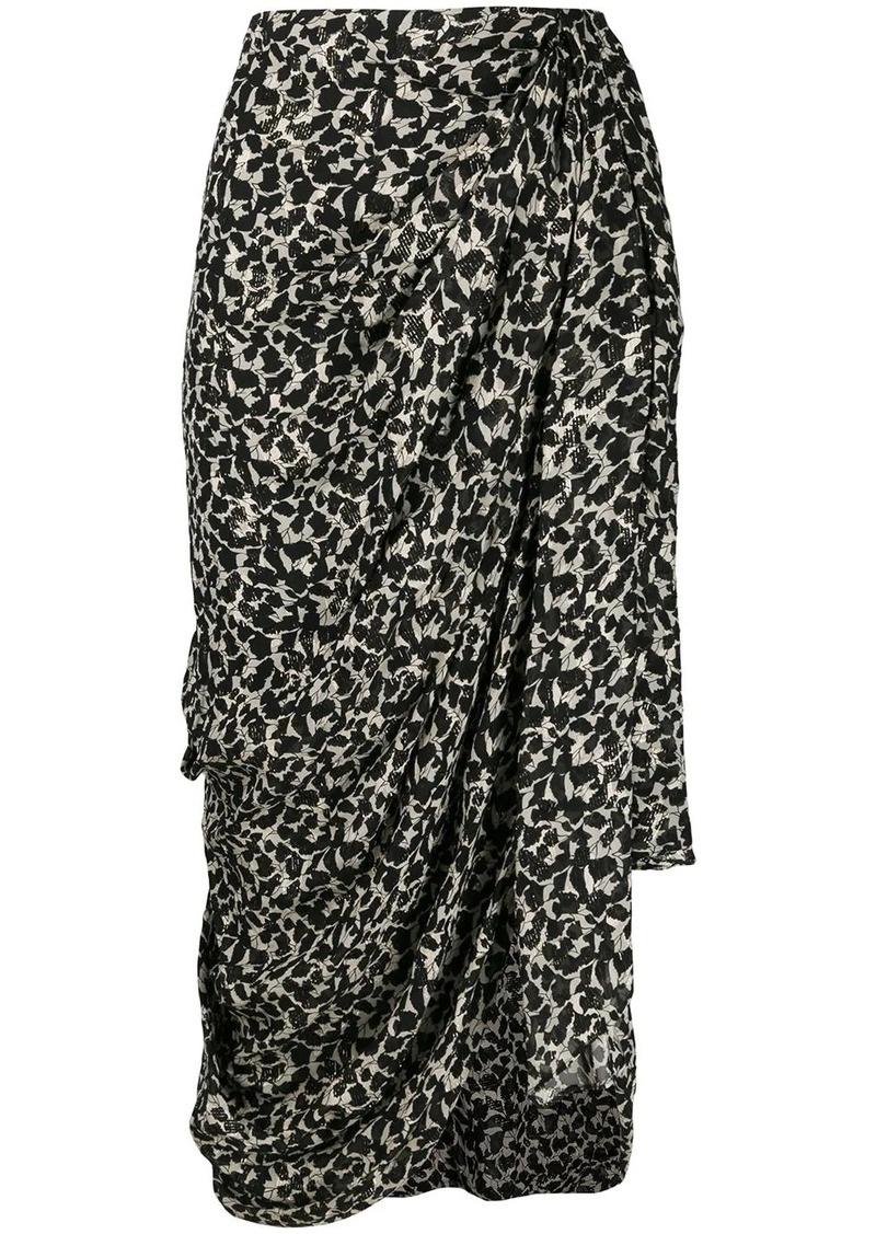 Isabel Marant Ixora asymmetric draped skirt
