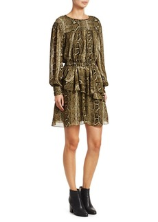 Isabel Marant Java Python Print Mini A-Line Dress
