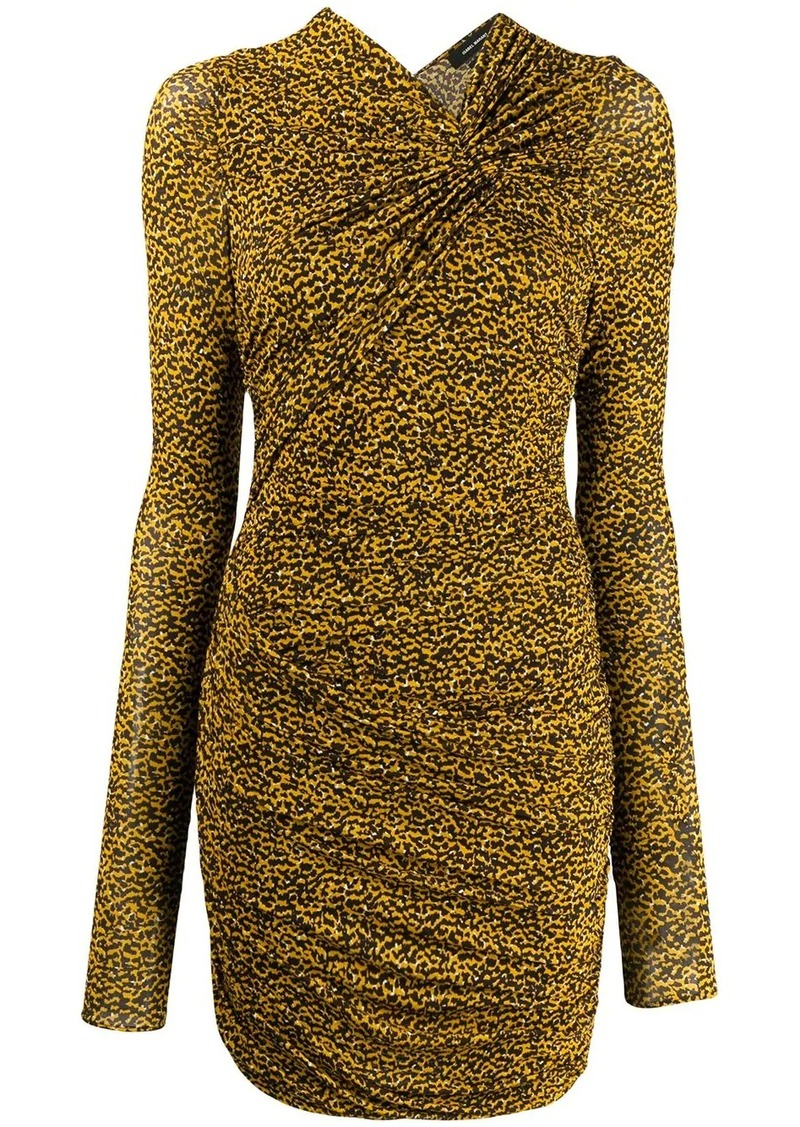 Isabel Marant Jobia ruched printed dress