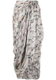Isabel Marant cadelia print draped skirt