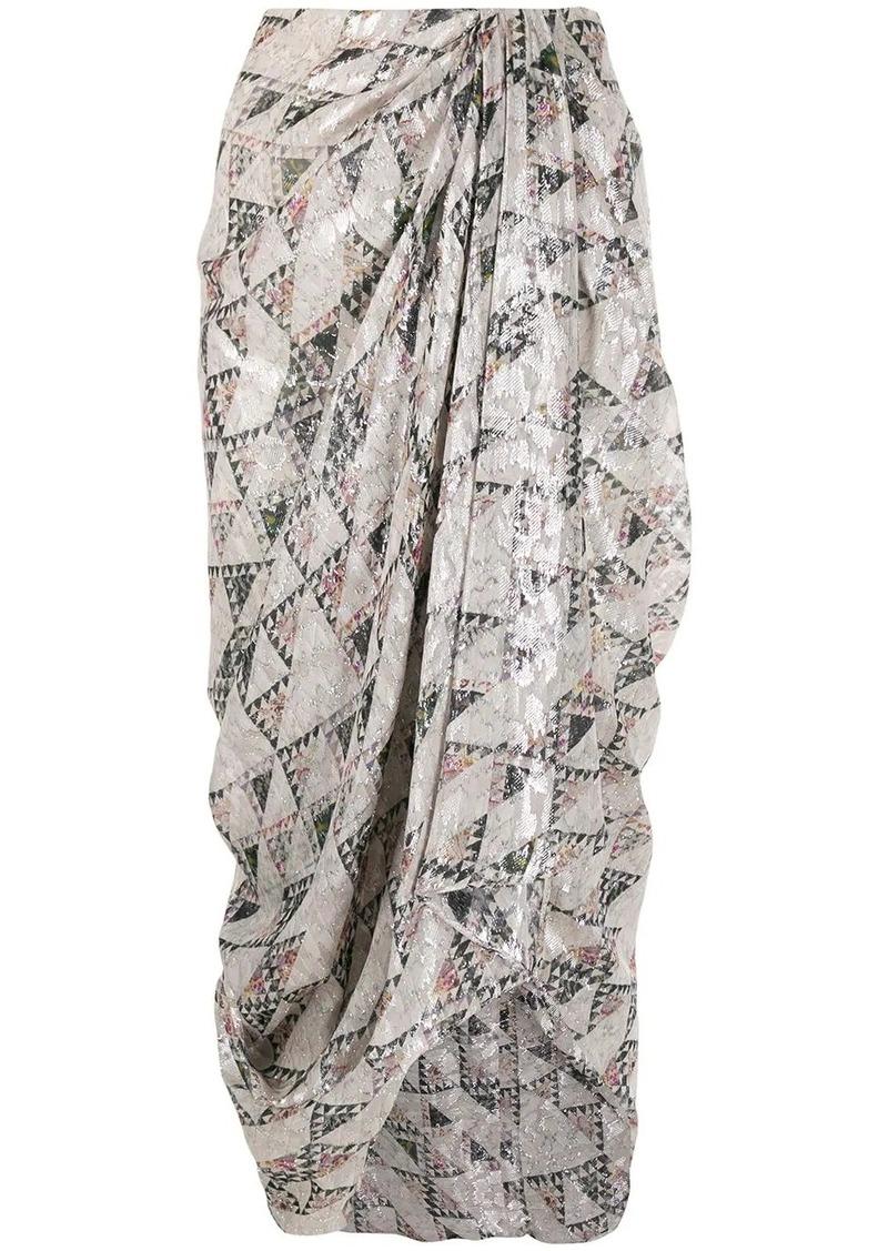 Isabel Marant cadelia print draped skirt