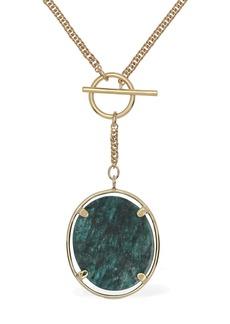 Isabel Marant Julius Long Necklace W/ Stone Charm