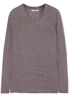Isabel Marant Kaaron Striped Linen And Cotton-blend Top