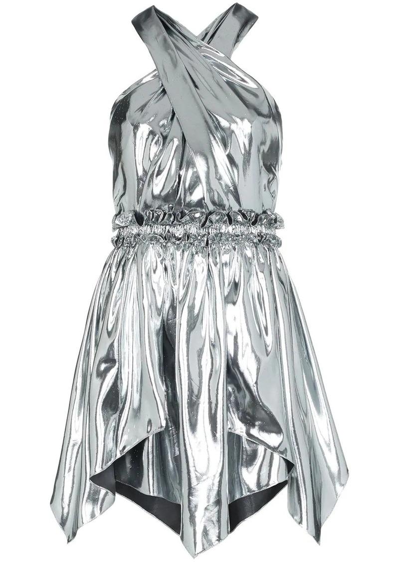 Isabel Marant Kary metallic mini-dress