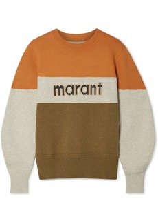 Isabel Marant Kedy Color-block Intarsia Knitted Sweater