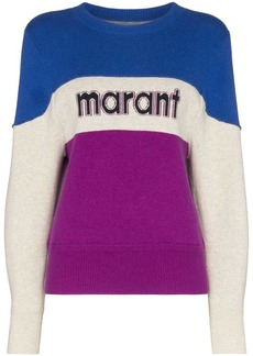 Isabel Marant Kedy colour-block logo jumper