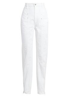 Isabel Marant Kelissa High-Rise Zip Cuff Jeans