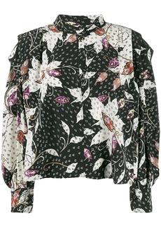 Isabel Marant keyhole printed blouse