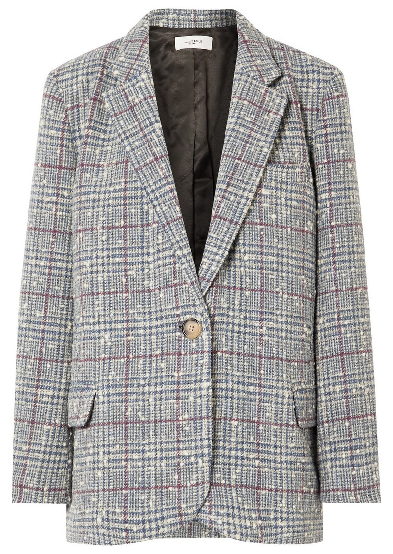 Isabel Marant Kice Checked Wool-blend Bouclé Blazer