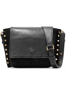 Isabel Marant Kleny Embellished Leather And Suede Shoulder Bag