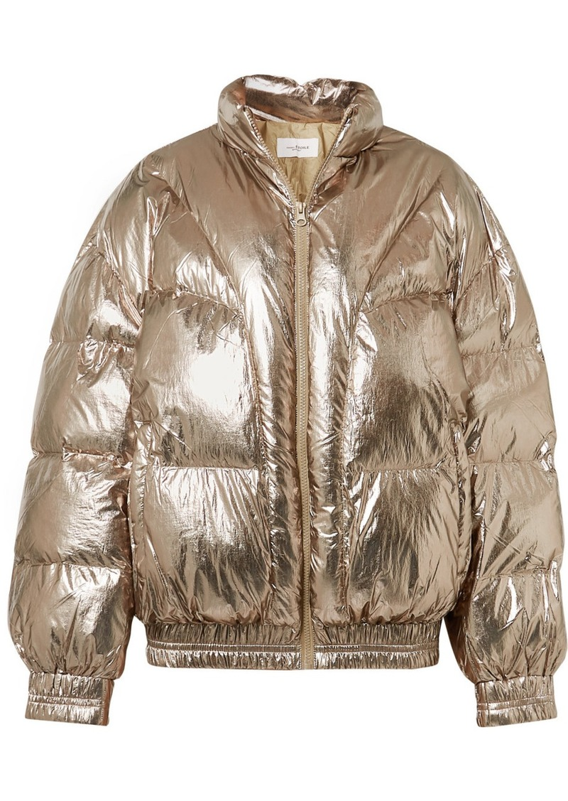 Isabel Marant Kristen Quilted Metallic Shell Jacket