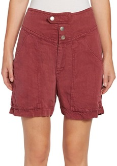 Isabel Marant Lainey Linen-Blend Cargo Shorts