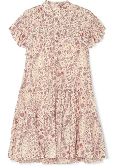 Isabel Marant Lanikaye Floral-print Cotton-voile Mini Dress