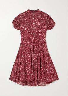 Isabel Marant Lanikaye Tiered Cotton-voile Mini Dress