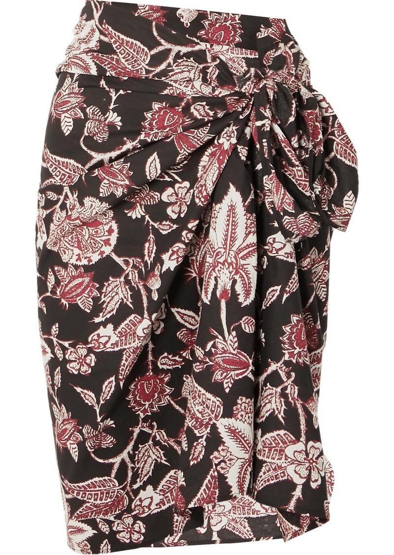 Isabel Marant Lazalea Floral-print Cotton-voile Mini Pareo