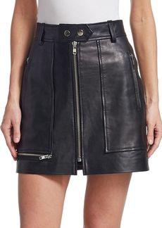 Isabel Marant Alynna Zip Leather Mini Skirt
