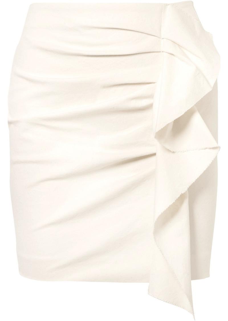 16b993a98 Isabel Marant Lefly Ruffled Cotton-blend Mini Skirt   Skirts