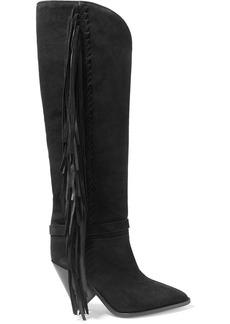 Isabel Marant Lenston Fringed Suede Knee Boots