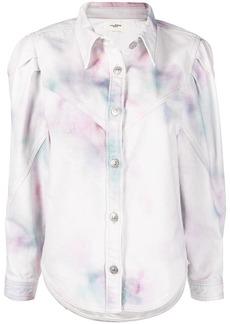 Isabel Marant Leona bleached denim jacket