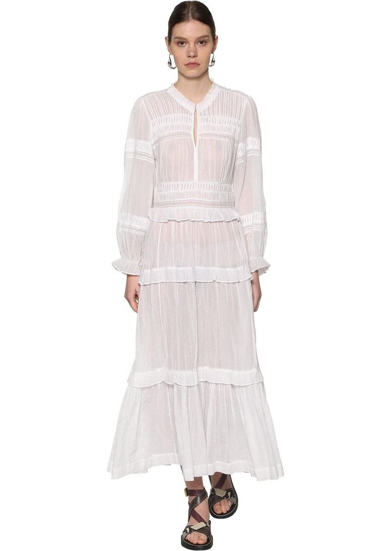 Isabel Marant Likoya Long Ruffled Cotton Dress