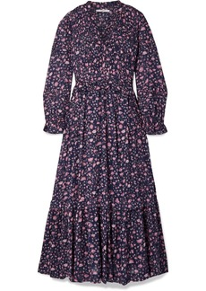 Isabel Marant Likoya Ruffled Floral-print Cotton-voile Maxi Dress