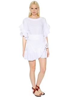 Isabel Marant Linen Ruffled Wrap Dress