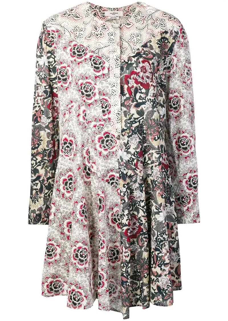 Isabel Marant Lissande contrast floral-print dress