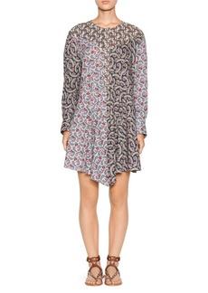 Isabel Marant Lissande Printed Sharkbite Shirt Dress