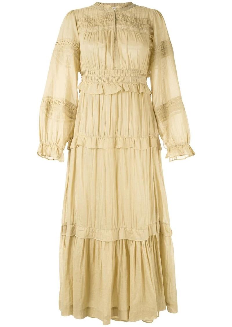Isabel Marant Liyoka tiered maxi dress