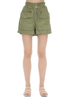 Isabel Marant Lizy High Waist Cotton Canvas Shorts