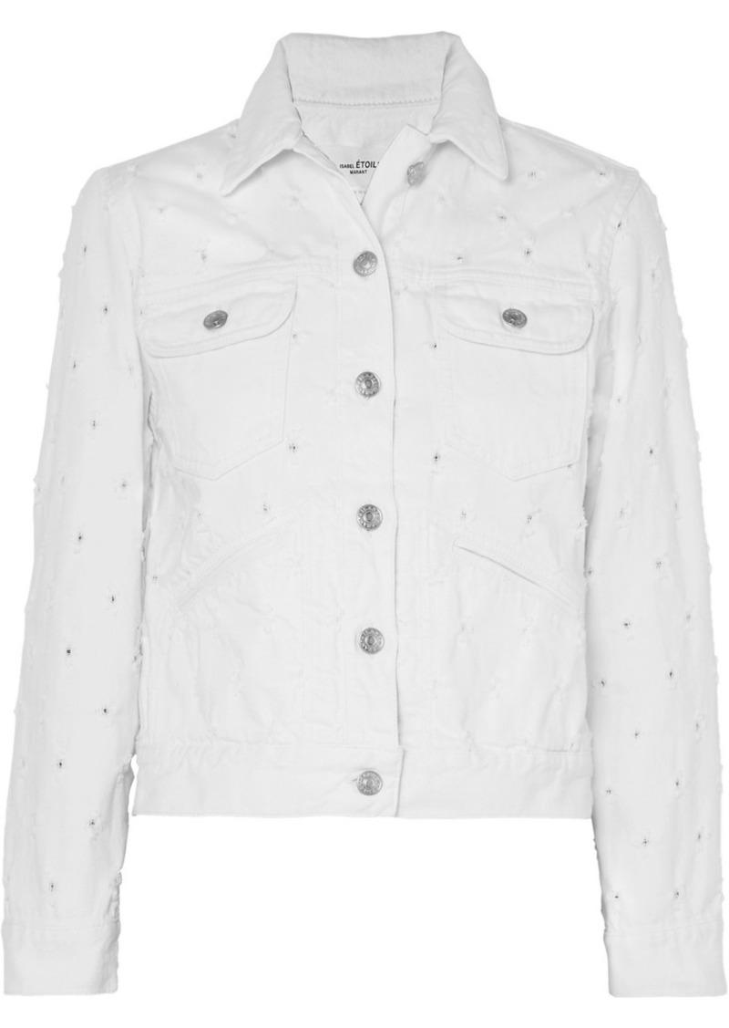 Isabel Marant Lofty Distressed Denim Jacket