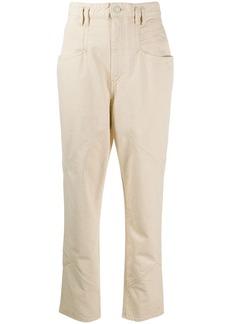 Isabel Marant logo patch straight leg jeans