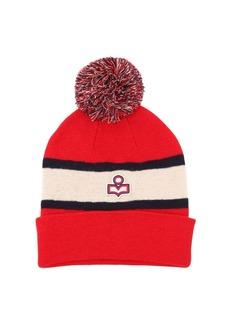 Isabel Marant Logo Two Tone Wool Knit Hat