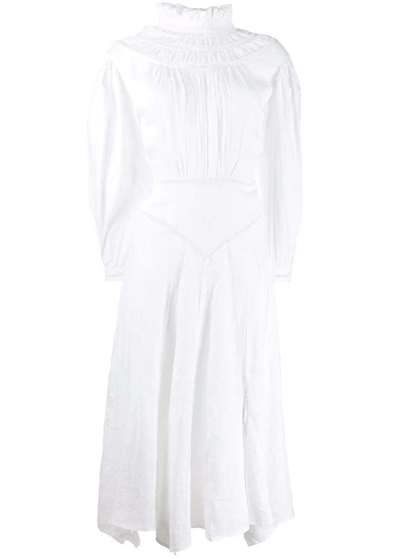 Isabel Marant long sleeve ruffled neck dress