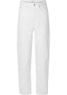 Isabel Marant Lorny Distressed High-rise Straight-leg Jeans