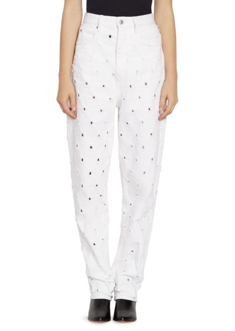 Isabel Marant Lorny Perforated Jeans