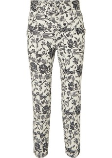 Isabel Marant Lorrick Cropped Floral-print High-rise Skinny Jeans