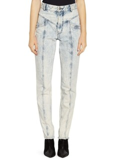 Isabel Marant Lorricka Acid Wash High Waist Jeans