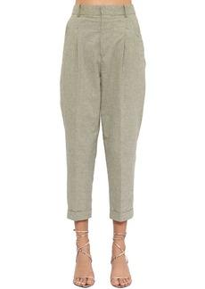 Isabel Marant Lowea Cropped Cotton Canvas Pants