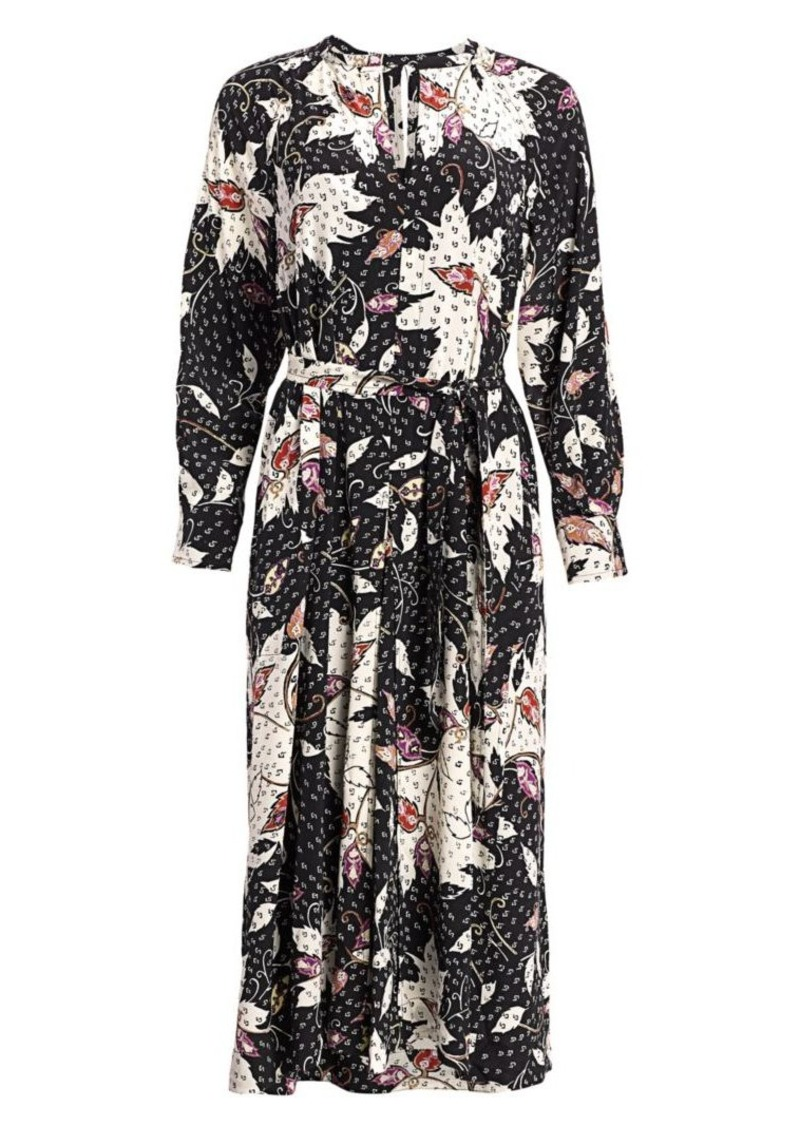 Isabel Marant Lympia Printed Stretch-Silk Midi Dress