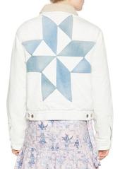 Isabel Marant Lynda Graphic Denim Jacket
