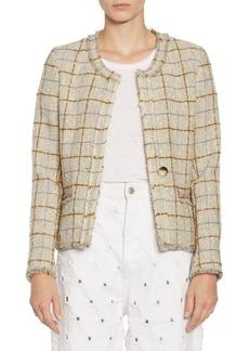 Isabel Marant Lyra Grid Wool Jacket