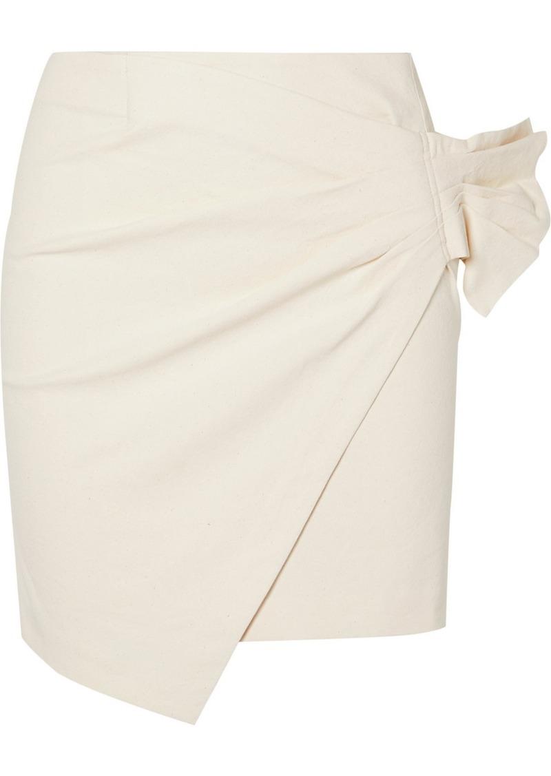 Isabel Marant Lyuba Ruffled Wrap-effect Cotton-blend Mini Skirt