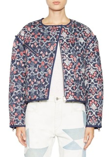 Isabel Marant Manae Floral Quilted Linen Jacket