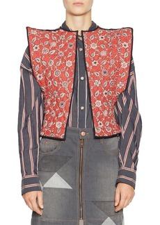 Isabel Marant Mandie Floral Reversible Linen Vest