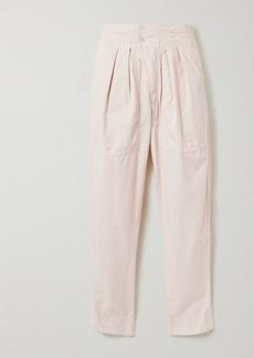 Isabel Marant Mariz Pleated Cotton Tapered Pants