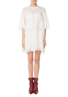 Isabel Marant Marlone Half-Sleeve Cutout Lace Mini Shift Dress