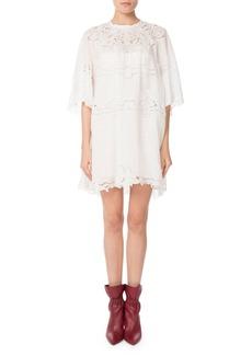 Isabel Marant Marlone Half-Sleeve Cutout Lace Mini Shift Dress
