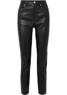 Isabel Marant Minlow Stretch-leather Slim-leg Pants