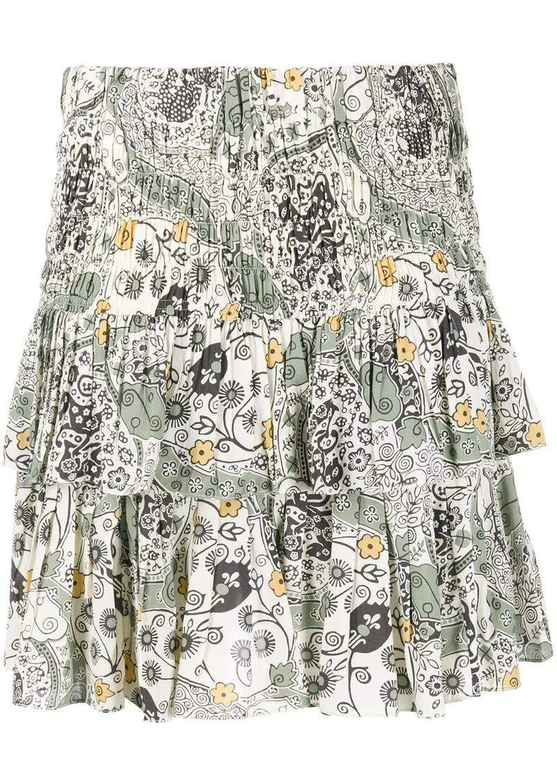 Isabel Marant Naomi floral-print ruffled skirt